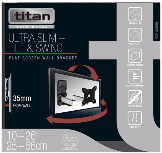 Uchwyt Vivanco A2615 30656 Ultra Slim - Uchwyty ścienne uniwersalne