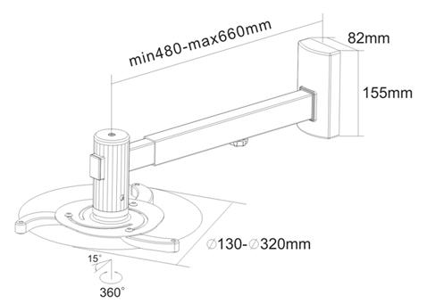 Uchwyt do projektora LC-P1 660 - Uchwyty projektorów