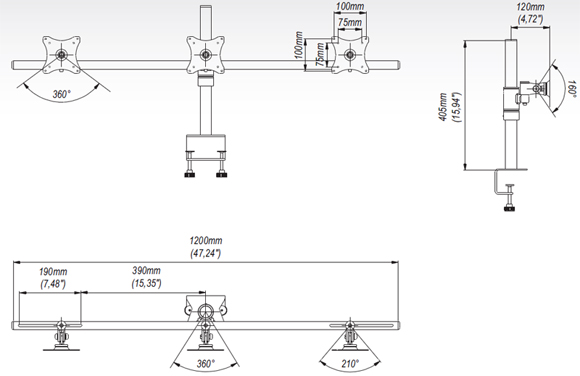 LC-SV09 - Uchwyty do biurka