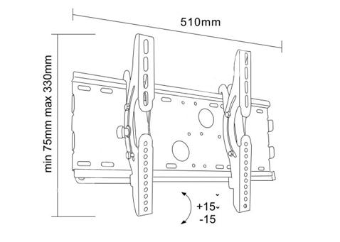 Uchwyt LC-U2R 37S - Uchwyty ścienne uniwersalne