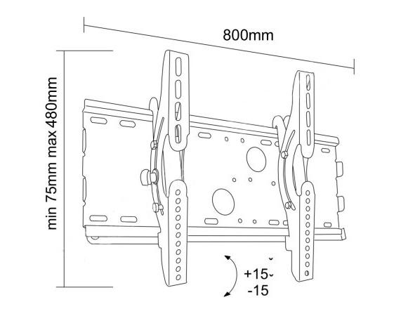 Uchwyt LC-U2R 63C - Uchwyty ścienne uniwersalne