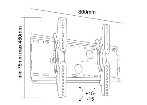 Uchwyt LC-U2R 63S - Uchwyty ścienne uniwersalne