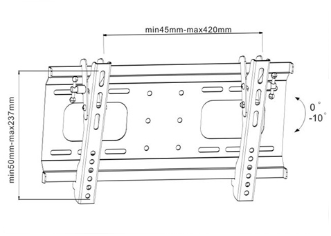 Uchwyt LC-U3R 37C - Uchwyty ścienne uniwersalne