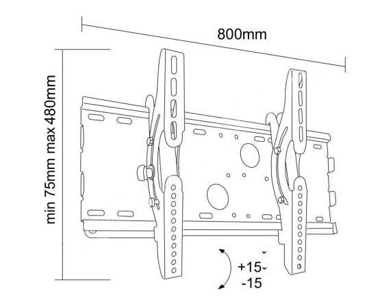 Uchwyt LC-U4R2 37C - Uchwyty ścienne uniwersalne