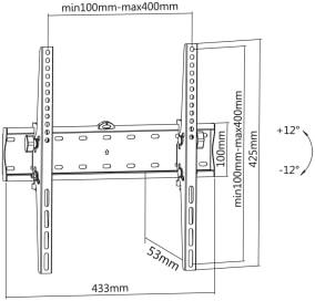 LC-U5R 55C - Uniwersalny uchwyt ścienny - Uchwyty ścienne uniwersalne