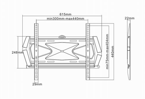 LC-U7S 2647 PRESTIGE - Uchwyty ścienne uniwersalne