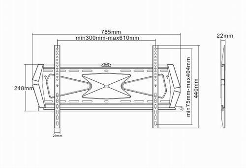 LC-U7S 3260 PRESTIGE - Uchwyty ścienne uniwersalne