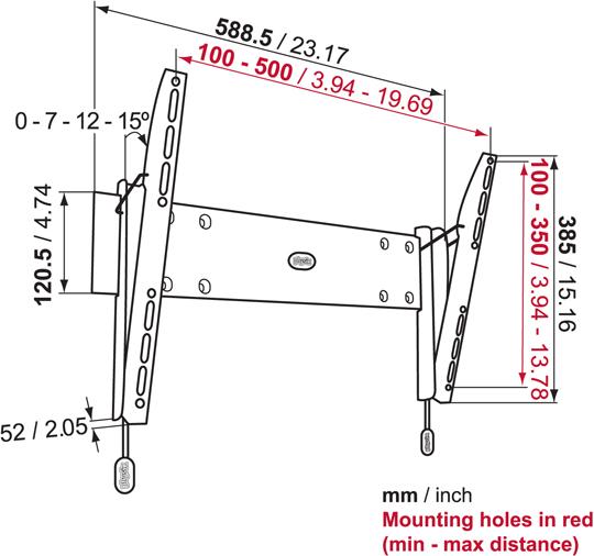 Uchwyt Vogels Physix PHW200M - Uchwyty ścienne uniwersalne
