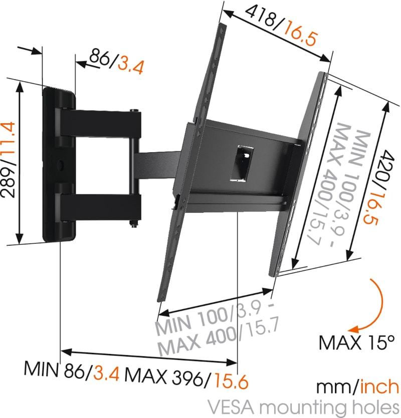 MA3040 - Ścienny uchwyt do telewizorów - Uchwyty ścienne uniwersalne