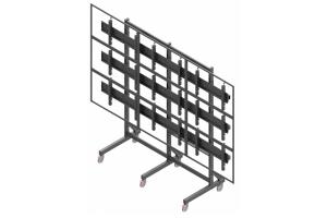 LCT3347-L - Uchwyt mobilny 3x3 do ściany wizyjnej 40
