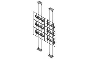 LCFC2357-L - Uchwyt sufit-podłoga w układzie 2x3 / 50